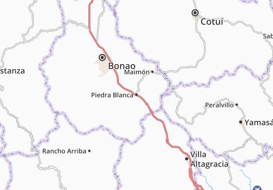 Piedra Blanca Map