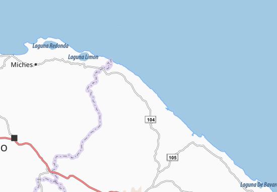 Karte Stadtplan La Vacama