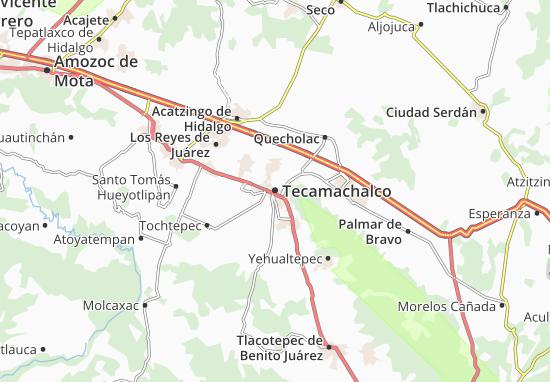 Carte-Plan Tecamachalco