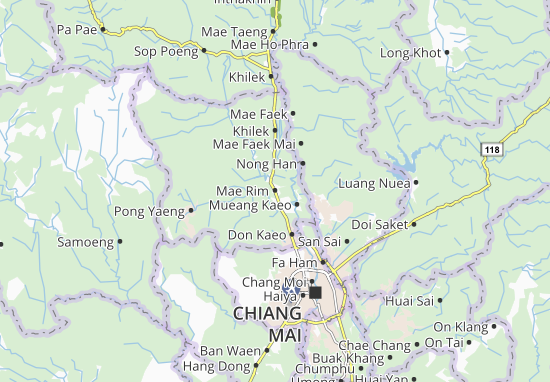 Mae Rim Map