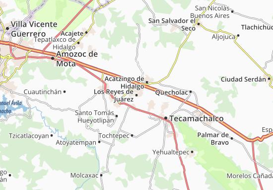 Carte-Plan Los Reyes de Juárez