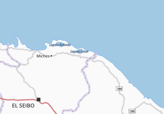 Kaart Plattegrond Las Lisas