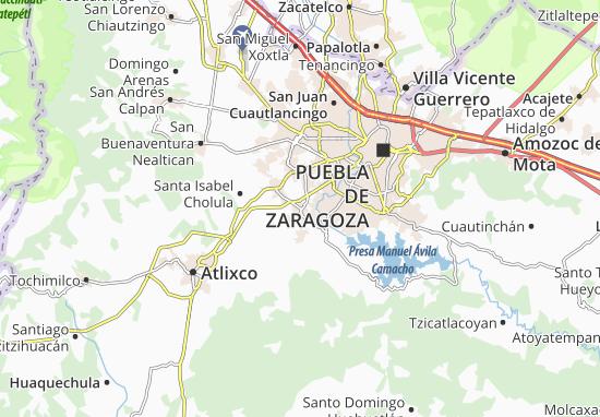 Carte-Plan Santa Clara Ocoyucan
