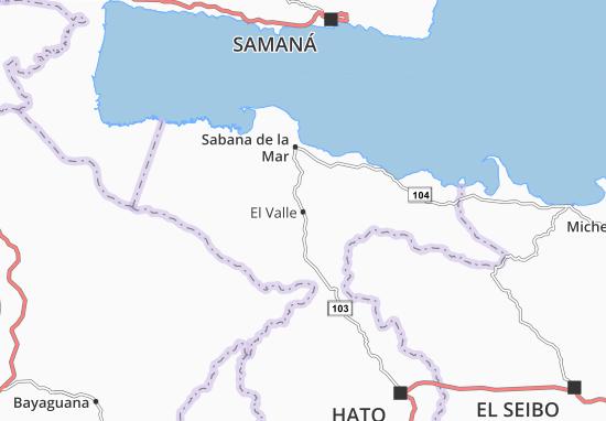 Karte Stadtplan El Valle