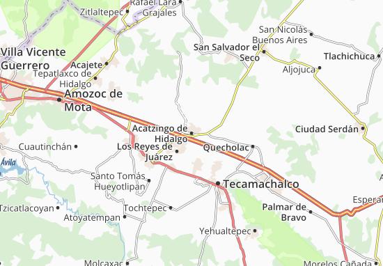 Carte-Plan Acatzingo de Hidalgo