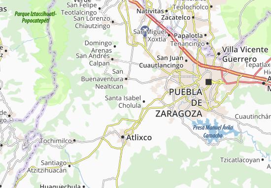 Carte-Plan San Jerónimo Tecuanipan
