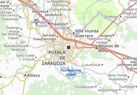 Carte-Plan Puebla de Zaragoza
