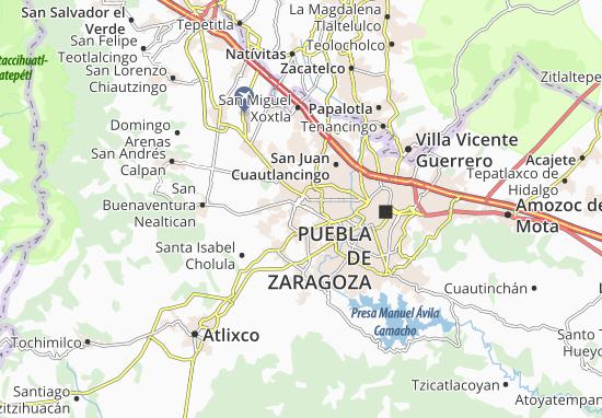 Carte-Plan San Andrés Cholula