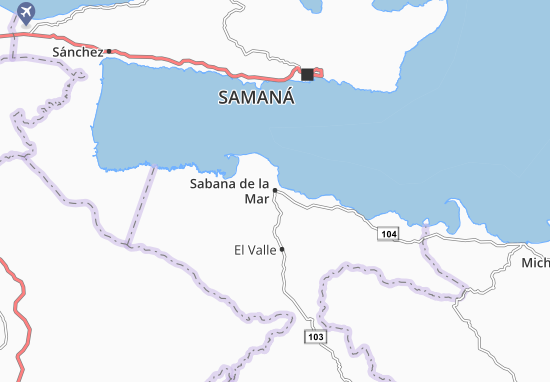 Sabana de la Mar Map
