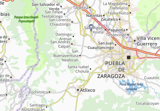 Carte-Plan San Buenaventura Nealtican