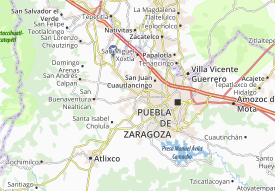 Carte-Plan Cholula de Rivadavia