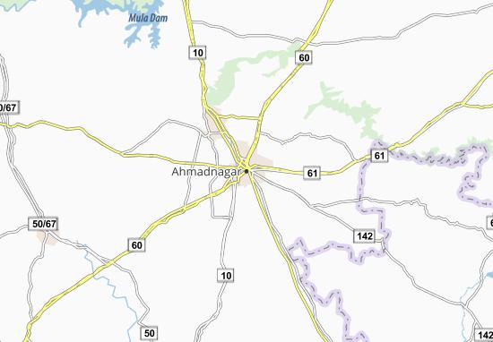 Carte-Plan Ahmadnagar