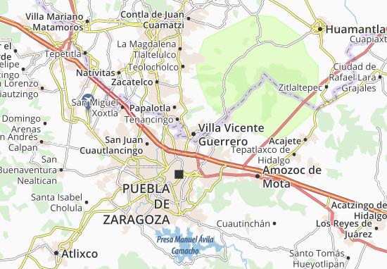 Carte-Plan Villa Vicente Guerrero