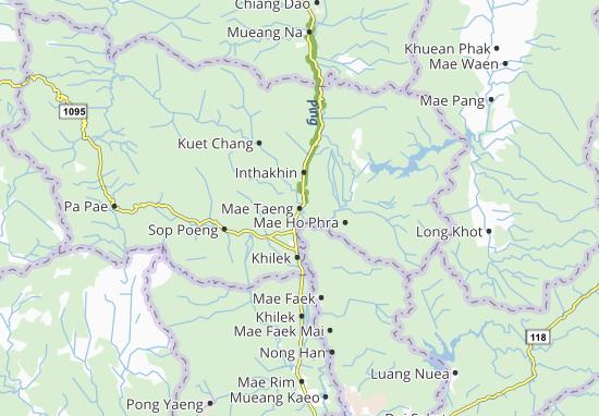Mapas-Planos Mae Taeng