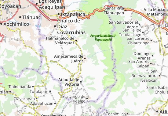 Carte-Plan Amecameca de Juárez