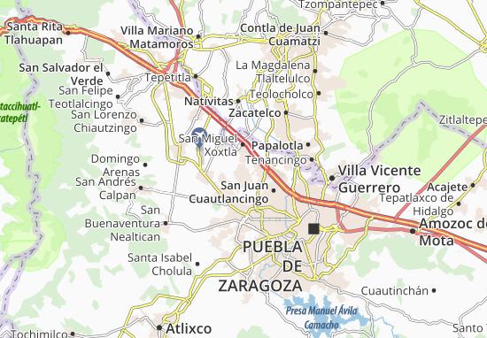 Carte-Plan Santa María Coronango