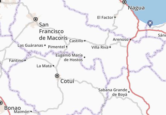 Mapa Plano Eugenio María de Hostos