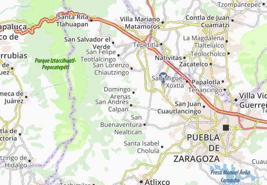 Carte-Plan Domingo Arenas