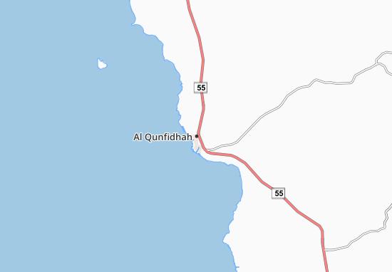 Kaart Plattegrond Al Qunfidhah