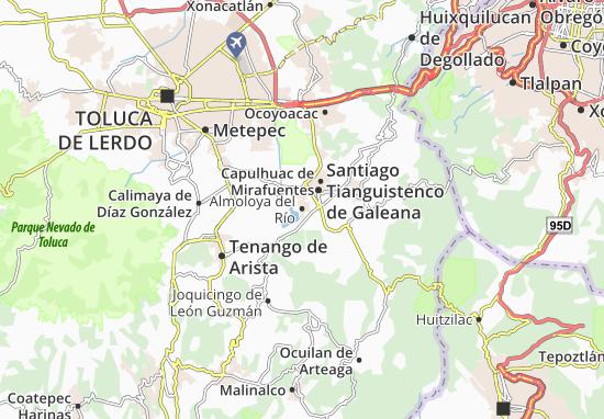 Carte-Plan Almoloya del Río