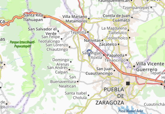 Carte-Plan Huejotzingo