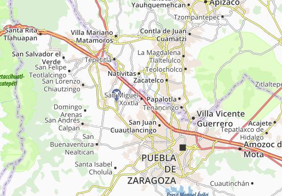 Carte-Plan San Miguel Xoxtla