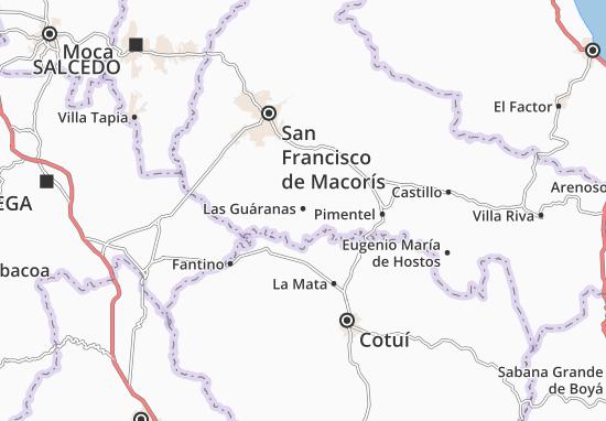 Las Guáranas Map