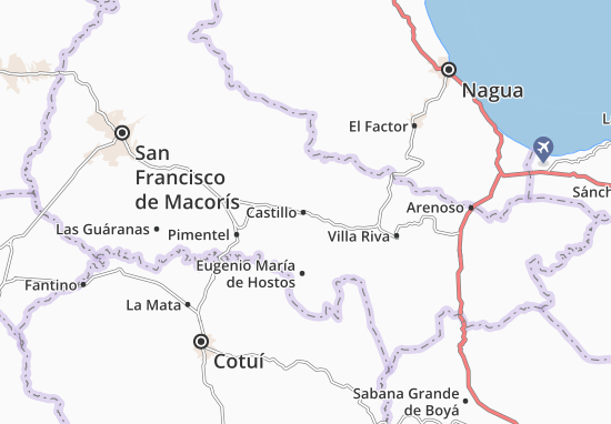 Karte Stadtplan Castillo