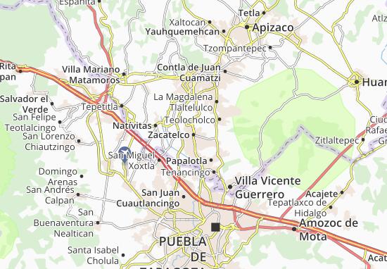 Carte-Plan Zacatelco