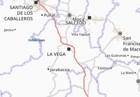 La Vega Map