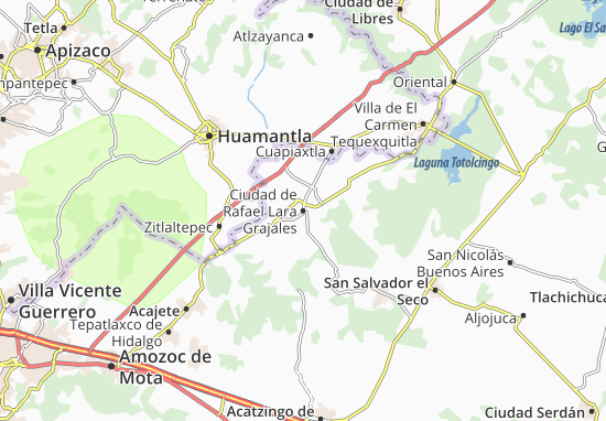 Carte-Plan Ciudad de Rafael Lara Grajales