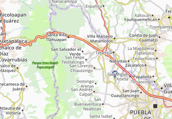 Carte-Plan San Felipe Teotlalcingo