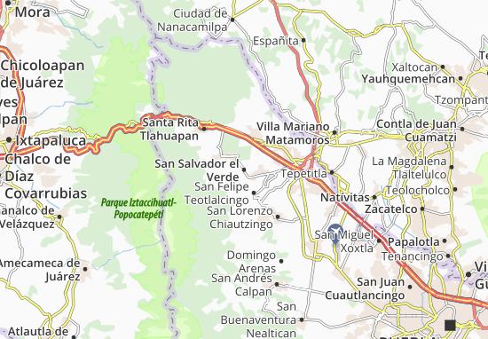 Carte-Plan San Salvador el Verde
