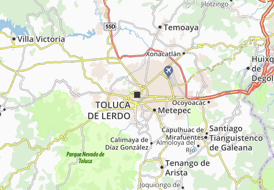 Map Of Toluca De Lerdo Michelin Toluca De Lerdo Map ViaMichelin - Toluca map