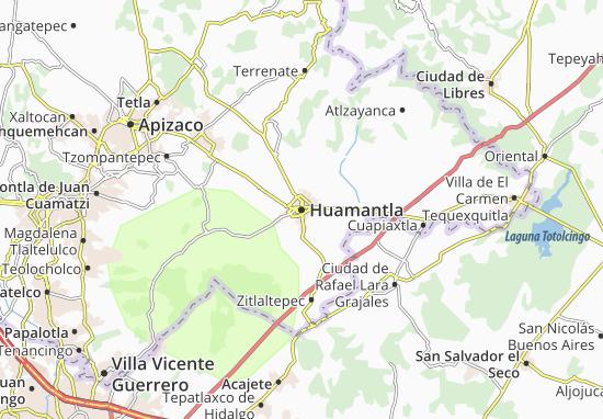 Karte Stadtplan Huamantla