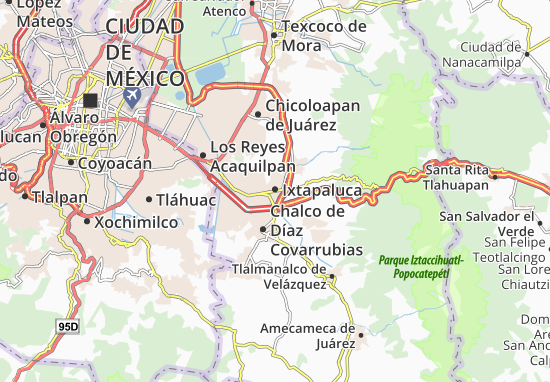 Carte-Plan Ixtapaluca