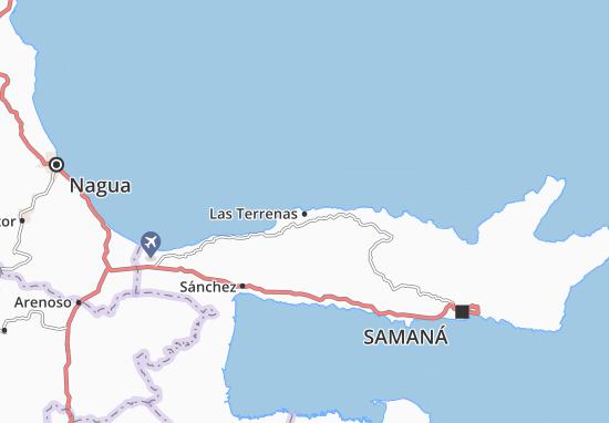 Kaart Plattegrond Las Terrenas