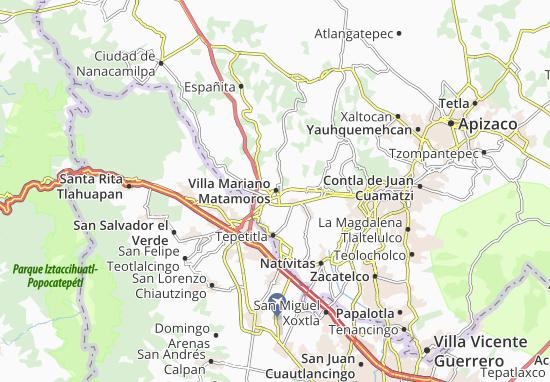 Carte-Plan Villa Mariano Matamoros