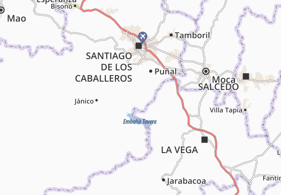Kaart Plattegrond Sabana Iglesia
