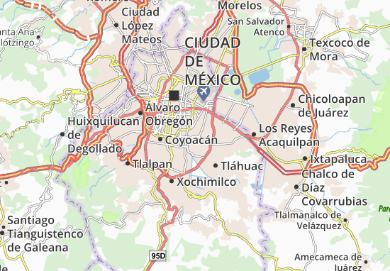 Iztapalapa Map Detailed maps for the city of Iztapalapa ViaMichelin – Tourist Map Of Mexico City