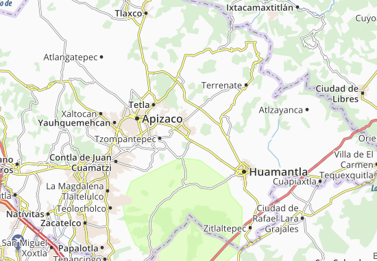 Carte-Plan Tocatlán