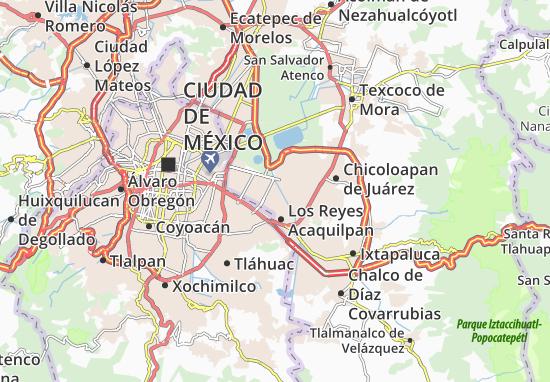 Nezahualcoyotl Mexico Map.Ciudad Nezahualcoyotl Map Detailed Maps For The City Of Ciudad