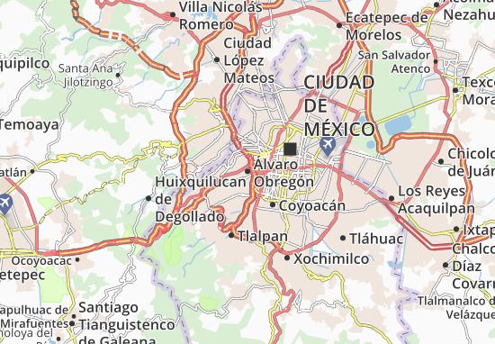 Carte-Plan Álvaro Obregón