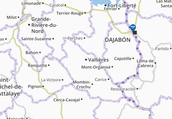 Vallières Map