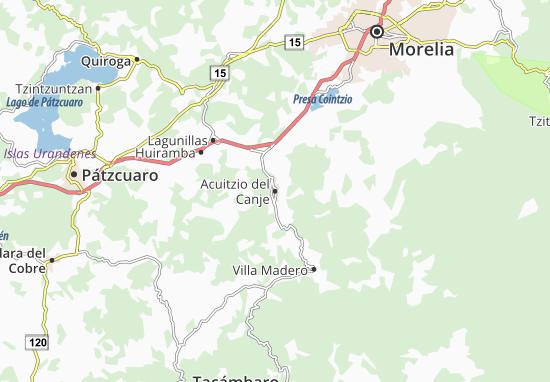 Mapa Acuitzio Del Canje Plano Acuitzio Del Canje Viamichelin