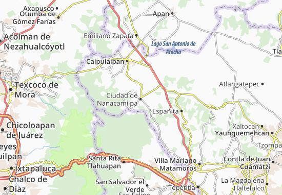 Carte-Plan Ciudad de Nanacamilpa
