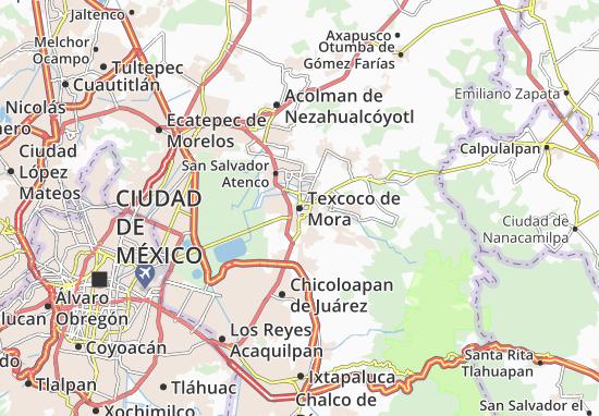 Carte-Plan Texcoco de Mora