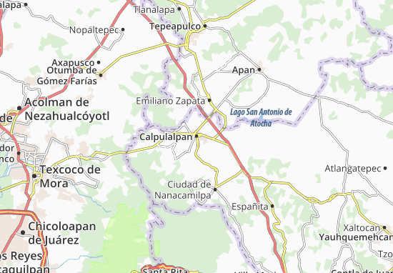 Carte-Plan Calpulalpan