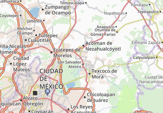Nezahualcoyotl Mexico Map.Tezoyuca Map Detailed Maps For The City Of Tezoyuca Viamichelin