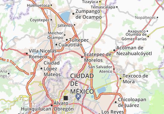 Carte-Plan Ecatepec de Morelos
